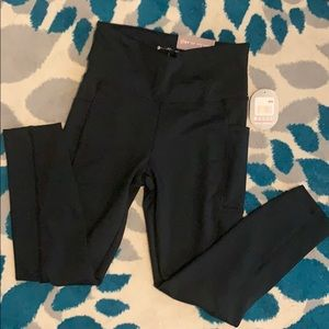 NWT Bally total fitness high rise cropped leggings